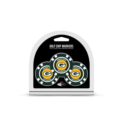 Green Bay Packers 3 Pack Golf Chip Ball Markers