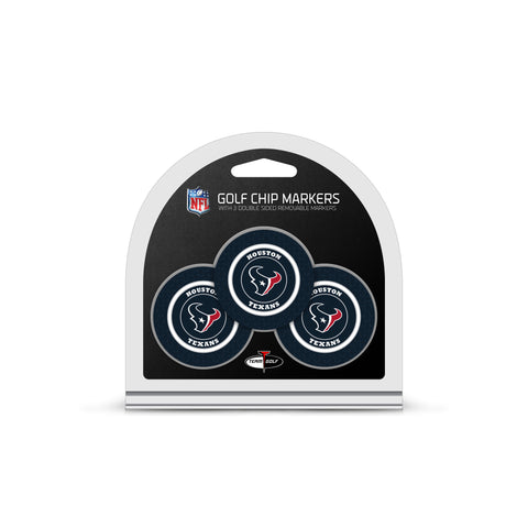 Houston Texans 3 Pack Golf Chip Ball Markers