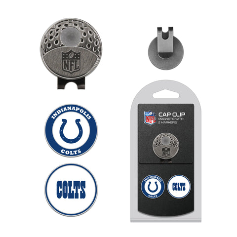 Indianapolis Colts Cap Clip With 2 Golf Ball Markers