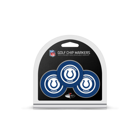 Indianapolis Colts 3 Pack Golf Chip Ball Markers