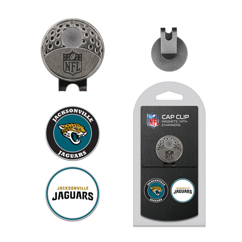 Jacksonville Jaguars Cap Clip With 2 Golf Ball Markers