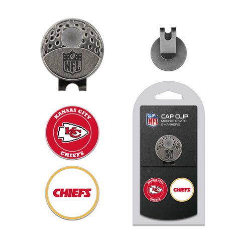 Kansas City Chiefs Cap Clip With 2 Golf Ball Markers