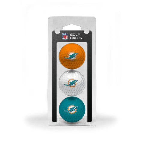 Miami Dolphins 3 Golf Ball Pack