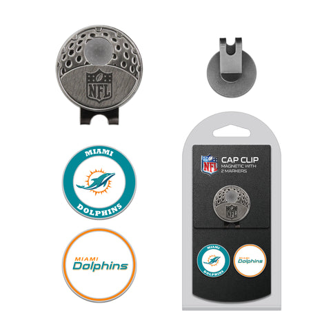 Miami Dolphins Cap Clip With 2 Golf Ball Markers