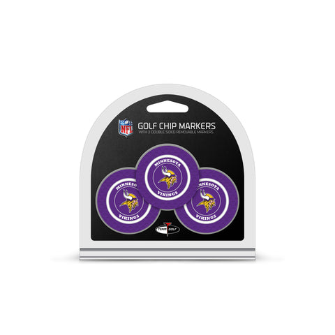 Minnesota Vikings 3 Pack Golf Chip Ball Markers