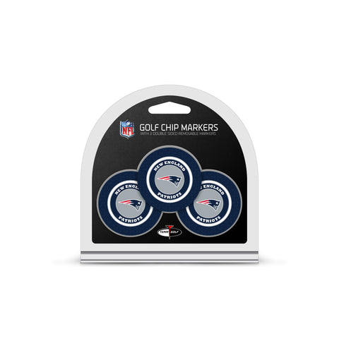 New England Patriots 3 Pack Golf Chip Ball Markers