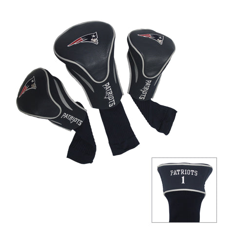 New England Patriots 3 Pack Contour Head Covers