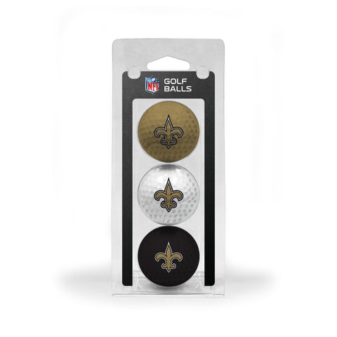 New Orleans Saints 3 Golf Ball Pack