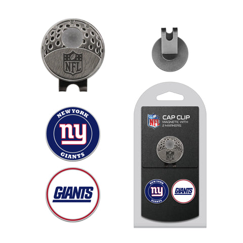 New York Giants Cap Clip With 2 Golf Ball Markers