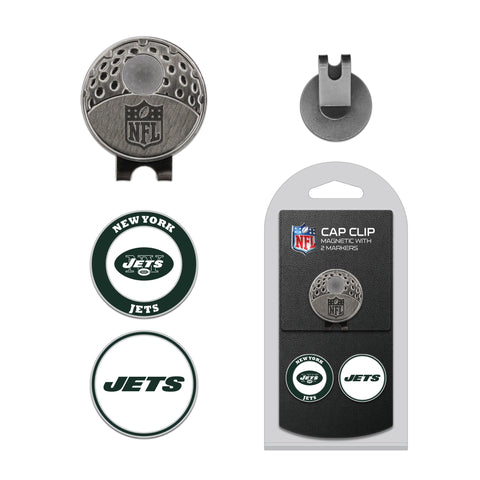 New York Jets Cap Clip With 2 Golf Ball Markers