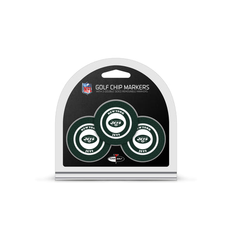 New York Jets 3 Pack Golf Chip Ball Markers