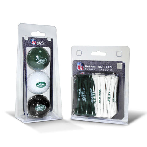 New York Jets 3 Golf Balls And 50 Golf Tees