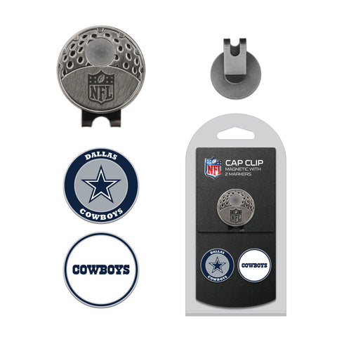 Dallas Cowboys Cap Clip With 2 Golf Ball Markers