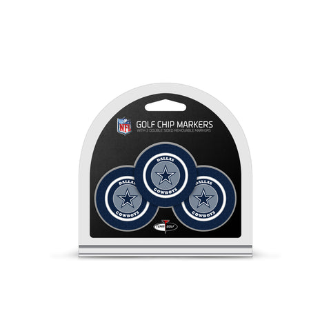 Dallas Cowboys 3 Pack Golf Chip Ball Markers