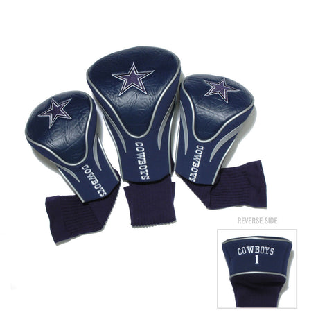Dallas Cowboys 3 Pack Contour Head Covers