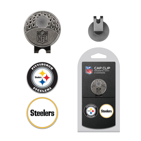 Pittsburgh Steelers Cap Clip With 2 Golf Ball Markers