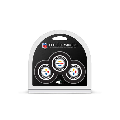 Pittsburgh Steelers 3 Pack Golf Chip Ball Markers