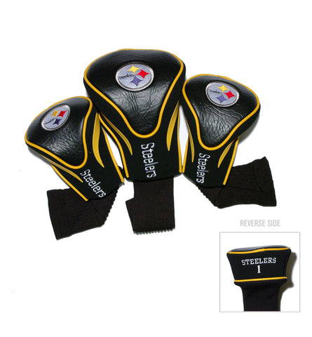 Pittsburgh Steelers 3 Pack Contour Head Covers