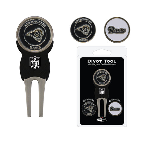Los Angeles Rams Divot Tool Pack With 2 Golf Ball Markers
