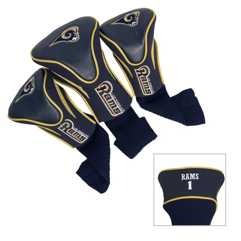 Los Angeles Rams 3 Pack Contour Head Covers