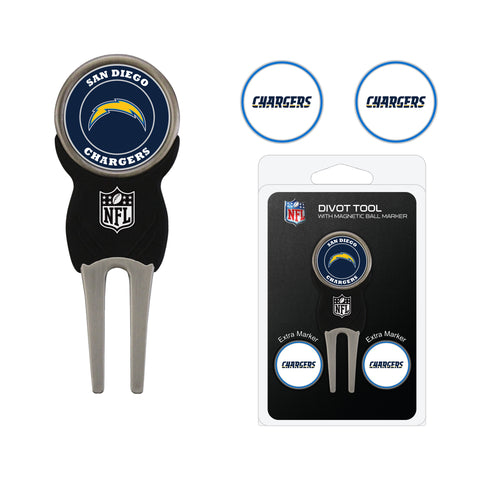 Los Angeles Chargers Divot Tool Pack With 3 Golf Ball Markers