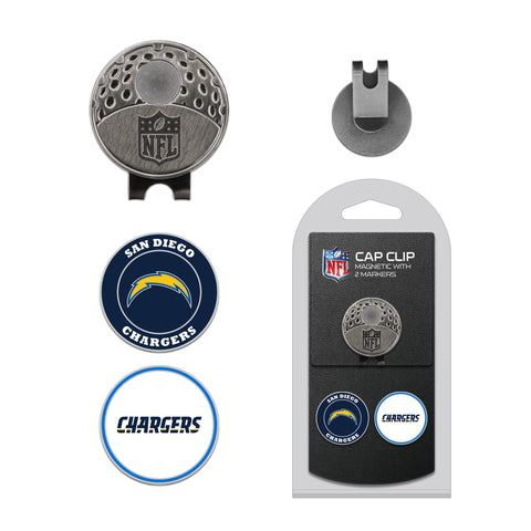 Los Angeles Chargers Cap Clip With 2 Golf Ball Markers