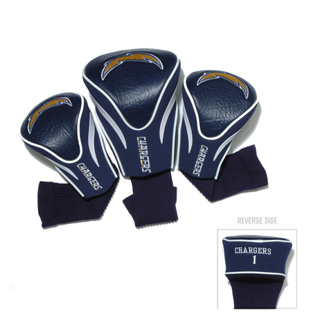 Los Angeles Chargers 3 Pack Contour Head Covers