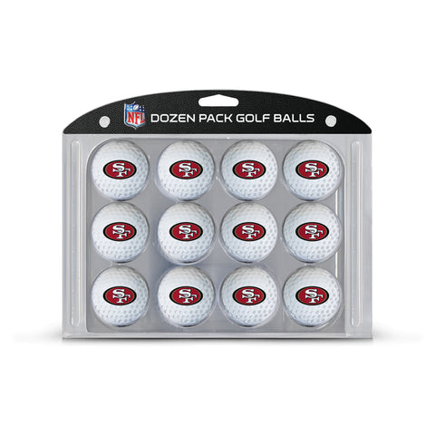 San Francisco 49ers Golf Balls, 12 Pack