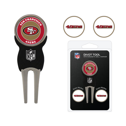 San Francisco 49ers Divot Tool Pack With 3 Golf Ball Markers