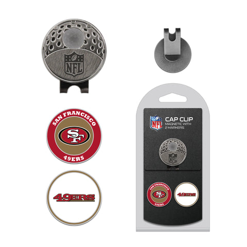 San Francisco 49ers Cap Clip With 2 Golf Ball Markers