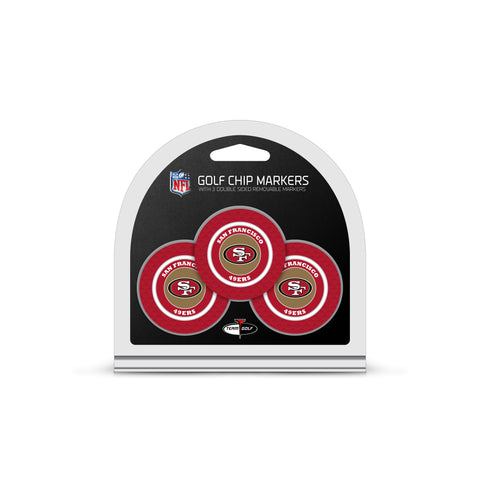 San Francisco 49ers 3 Pack Golf Chip Ball Markers