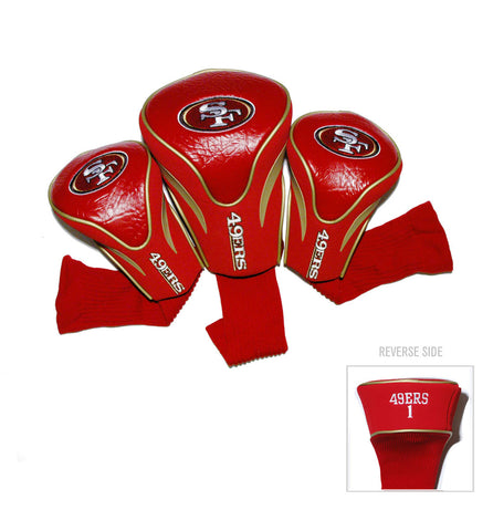San Francisco 49ers 3 Pack Contour Head Covers