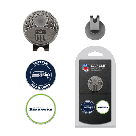 Seattle Seahawks Cap Clip With 2 Golf Ball Markers