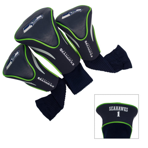 Seattle Seahawks 3 Pack Contour Head Covers