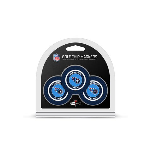 Tennessee Titans 3 Pack Golf Chip Ball Markers