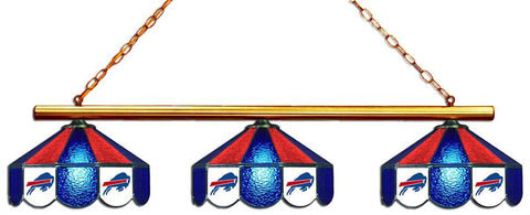 Buffalo Bills Glass 3 Shade Lamp