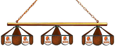 Cleveland Browns Glass 3 Shade Lamp