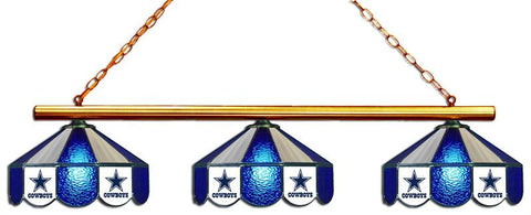 Dallas Cowboys Glass 3 Shade Lamp