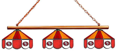San Francisco 49ers Glass 3 Shade Lamp