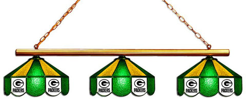 Green Bay Packers Glass 3 Shade Lamp