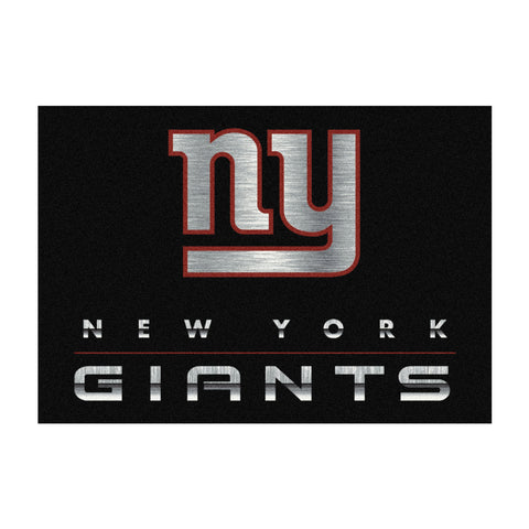 New York Giants 6X8 Chrome Rug