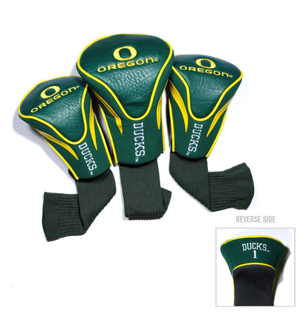 Oregon Ducks 3 Pack Contour Head Covers
