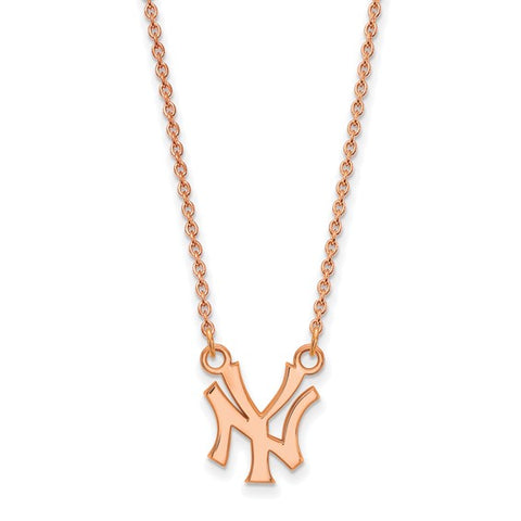 New York Yankees Necklace Rose Gold Plated