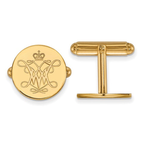 William And Mary Cufflinks 14k Yellow Gold