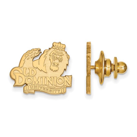 Old Dominion Monarchs Lapel Pin 14k Yellow Gold