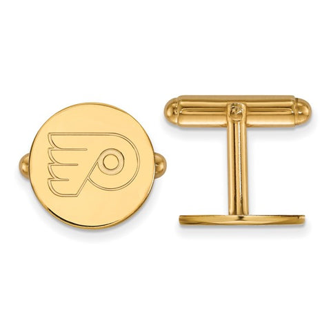 Philadelphia Flyers Cufflinks 14k Yellow Gold