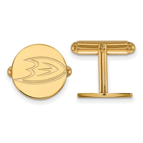 Anaheim Ducks Cufflinks 14k Yellow Gold