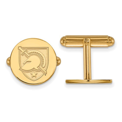 Army Black Knights Cufflinks 14k Yellow Gold