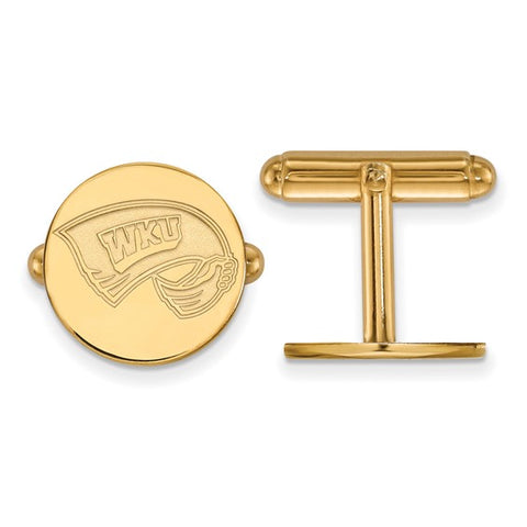 Western Kentucky Hilltoppers Cufflinks 14k Yellow Gold