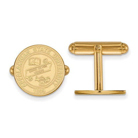 Appalachian State Mountaineers Crest Cufflinks 14k Yellow Gold